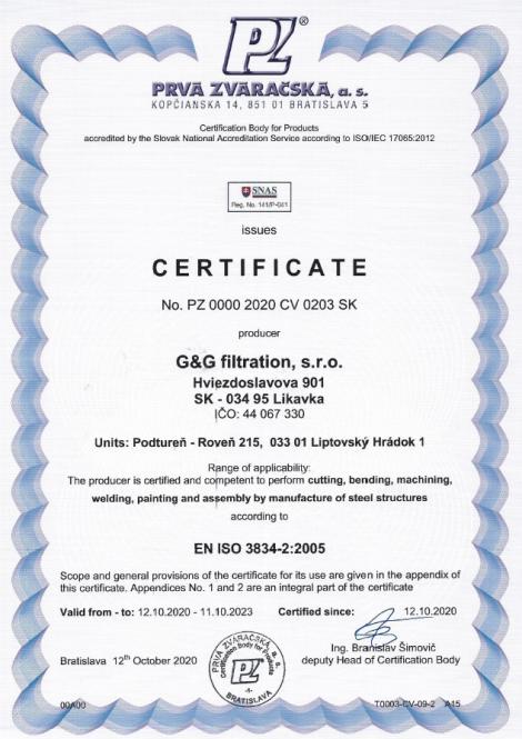 3834-2: 2005 Sudarea prin fuziune în producția de structuri din oțel